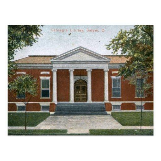 Carnegie Library, Salem, Ohio 1907 Vintage Postcard