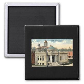 Carnegie Library San Bernardino CA Vintage c1915 2 Inch Square Magnet