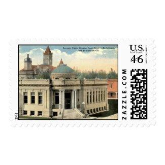 Carnegie Library San Bernardino CA Vintage c1915 stamp