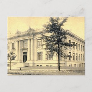 Carnegie Library, State College, Pennsylvania 1909 postcard