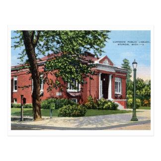 Carnegie Library Sturgis Michigan Vintage Postcards