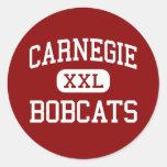 Carnegie - linces - joven - Carnegie Oklahoma Pegatinas Redondas