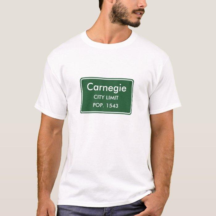 Carnegie Oklahoma City Limit Sign T-Shirt