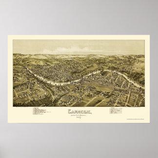 Carnegie, PA Panoramic Map - 1897 Poster