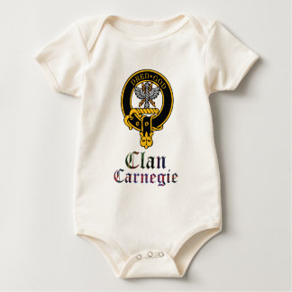 Carnegie Scottish Crest Tartan Clan Name Clothes Baby Bodysuit