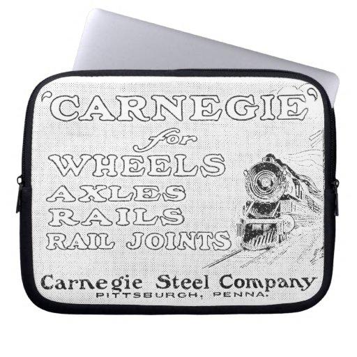 Carnegie Steel for Locomotive Wheels Computer Sleeves