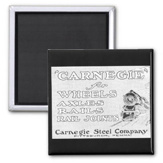 Carnegie Steel for Wheels Rails and Rail Joints 2 Inch Square Magnet