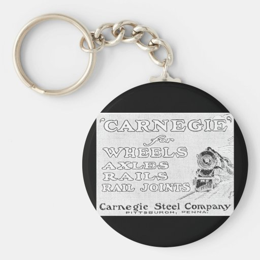 Carnegie Steel for Wheels Rails and Rail Joints Keychains