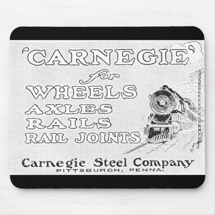Carnegie Steel for Wheels Rails and Rail Joints Mouse Pad