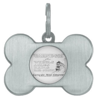 Carnegie Steel for Wheels Rails and Rail Joints Pet Name Tag