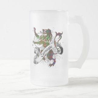 Carnegie Tartan Lion Frosted Glass Beer Mug