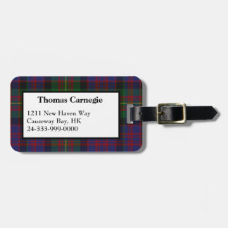 Carnegie Tartan Plaid Luggage Tag