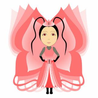 Carnelian Butterfly Princess Cut Out