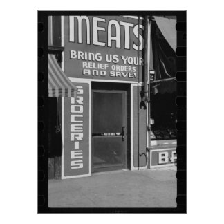Carnes y ultramarinos póster