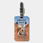Carnet con foto del perro del servicio de Cliffsid Etiquetas De Equipaje