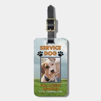Carnet con foto del perro del servicio de Medowlan Etiqueta Para Maleta