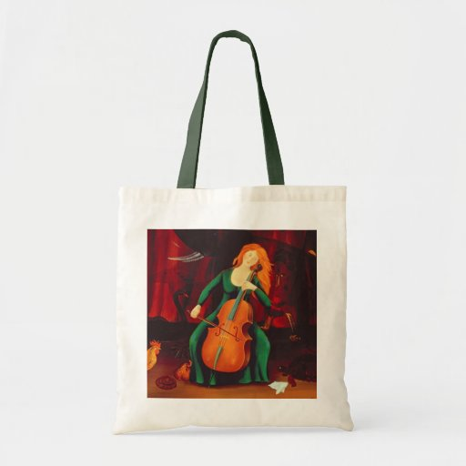 Carneval des Animeaux Cello Player Budget Tote Bag