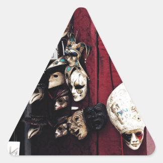 Carnevale di Venezia Triangle Sticker