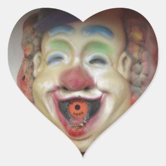 Carney Clowns Heart Sticker