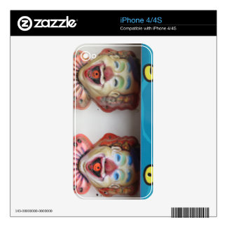 Carney Clowns Skin For iPhone 4S