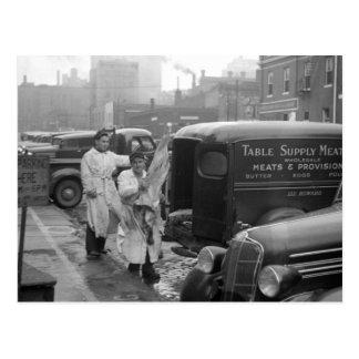 Carnicería Boys, 1938 Postal