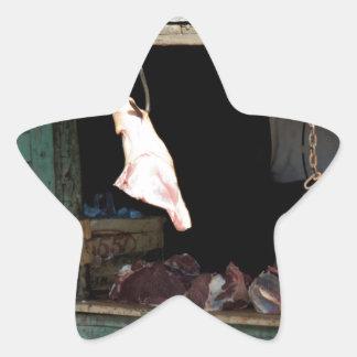carnicería pegatina en forma de estrella