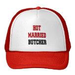 Carnicero casado caliente gorros bordados