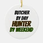 Carnicero del cazador del día por fin de semana ornato