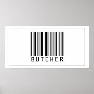 Carnicero del código de barras póster