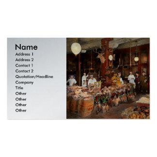 Carnicero - el centro de juego 1895 tarjetas de visita