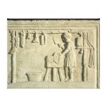 Carnicero romano, alivio impresión en tela
