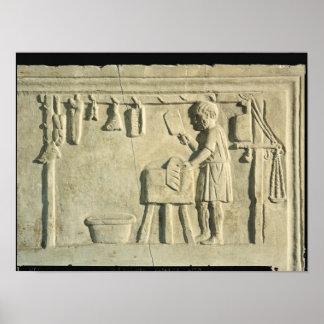 Carnicero romano alivio posters