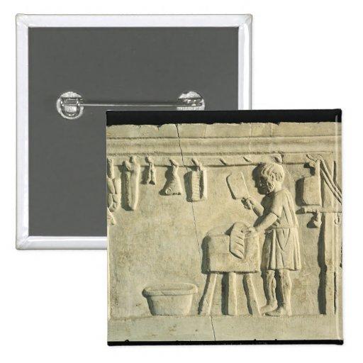 Carnicero romano, alivio pin cuadrado