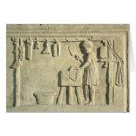 Carnicero romano, alivio tarjeta de felicitación