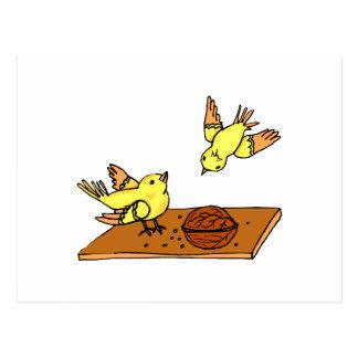 Carnie & Carny Canary Postcard