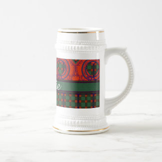Carnie clan Plaid Scottish kilt tartan Beer Stein
