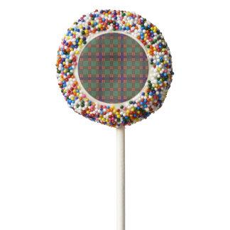 Carnie clan Plaid Scottish kilt tartan Chocolate Dipped Oreo Pop