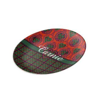 Carnie clan Plaid Scottish kilt tartan Dinner Plate
