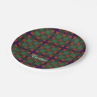 Carnie clan Plaid Scottish kilt tartan Paper Plate