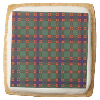 Carnie clan Plaid Scottish kilt tartan Square Shortbread Cookie