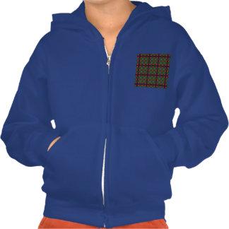 Carnie clan Plaid Scottish kilt tartan Hooded Pullover