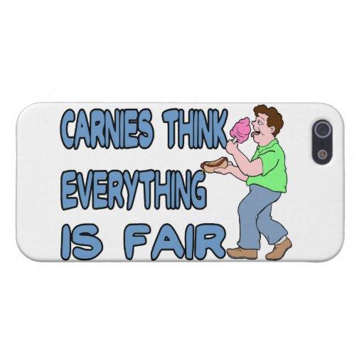 Carnies piensa que todo es justo iPhone 5 carcasa