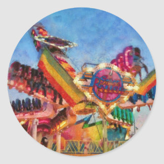 Carnival - A most colorful ride Classic Round Sticker