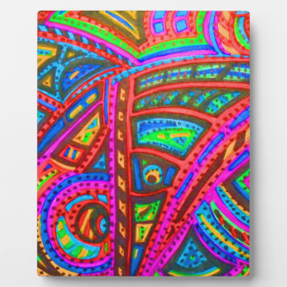CARNIVAL ABSTRACT PLAQUE