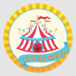 Carnival and Circus Party Classic Round Sticker