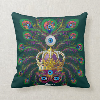 Carnival Argos-Argus Eyes Important view Hints Throw Pillow