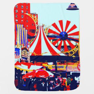 Carnival at Coney Island Stroller Blanket