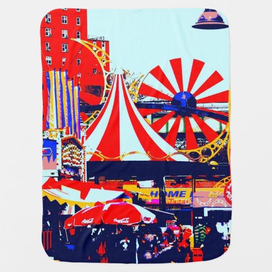 Carnival At Coney Island Stroller Blanket Zazzle Com