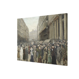 Carnival at Lille Canvas Print