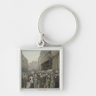 Carnival at Lille Silver-Colored Square Keychain